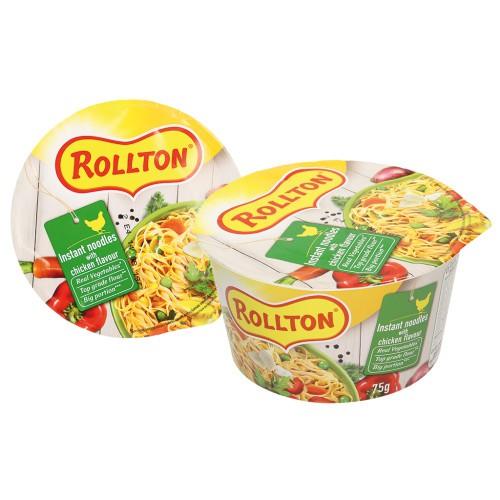 Роллтон суп-лапша со вкусом курицы/ Juha z rezanci Rollton z okusom piščanca.