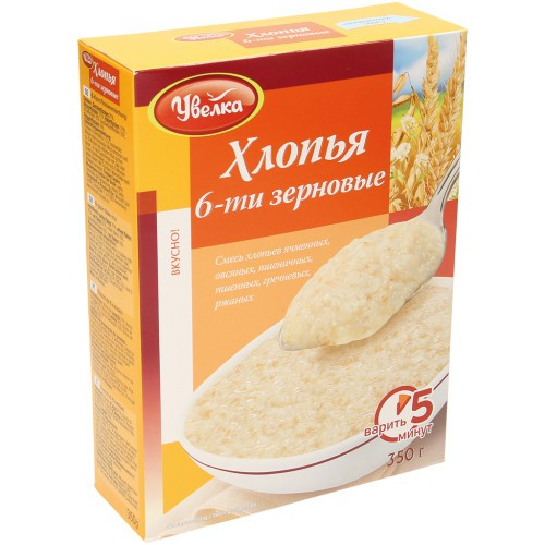 Хлопья 6-ти зерновые/ Kaša 6-žit 350 g. Увелка.