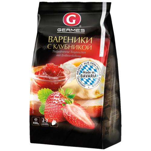 Cmoki z jagodami 450g. Germes/Вареники с клубникой