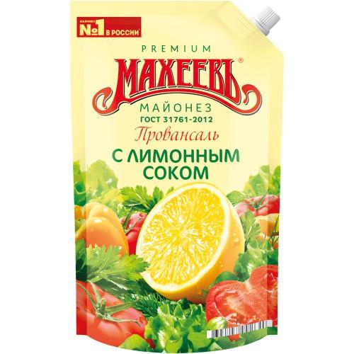 Майонез с лимонным соком/Majoneza z limoninim sokom 800 ml . Махеев.