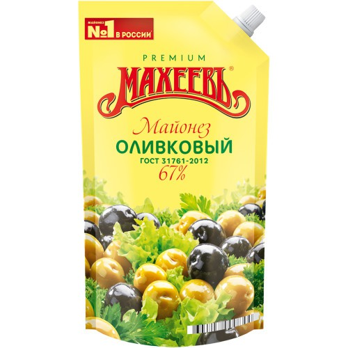 Майонез Оливковый/ Majoneza Oliva. 400 ml. Махеев.