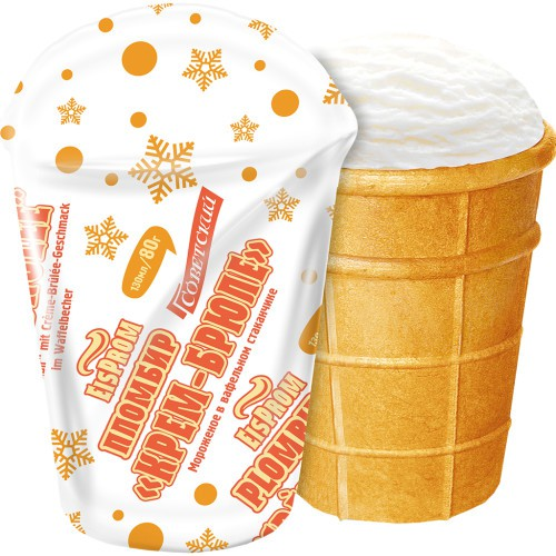 Пломбир Крем-брюле/Sladoled Creme brulee 80 g. EisProm.