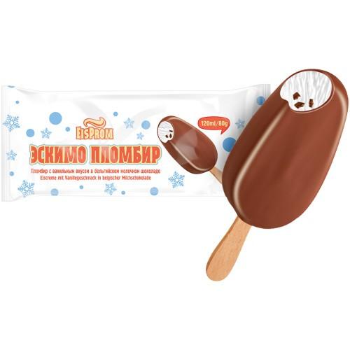 Эскимо с кусочками шоколада/ Sladoled s koščki čokolade 80 g.