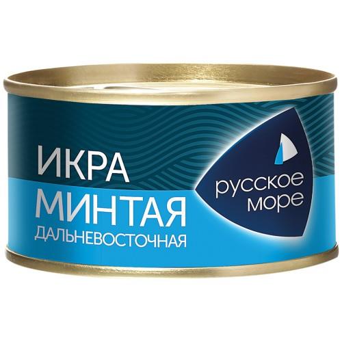 Икра минтая/ Kaviar Aljaska pollaka. Русское море.