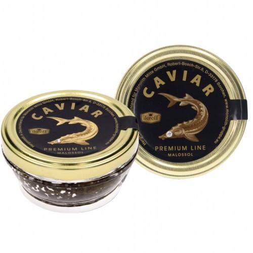 Икра осетровая ,премиум /Kaviar jesetra, premium 100 gr. Ikroff.