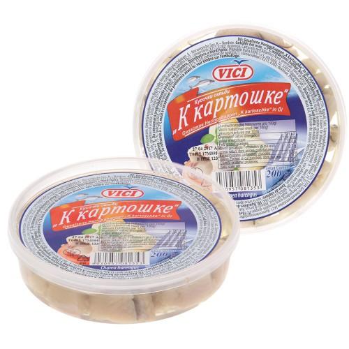 Кусочки сельди K картошечке/Kosi sleda Za krompir 200 gr. Vici.