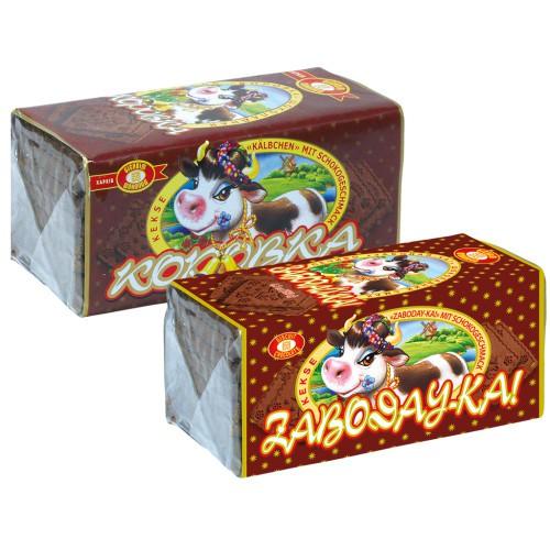 Печенье шоколадное Коровка Забодайка/Čokoladni piškoti Korovka Zabodayka.